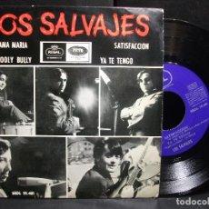 Discos de vinilo: LOS SALVAJES SATISFACCION + 3 EP SPAIN 1965 PDELUXE. Lote 96666559
