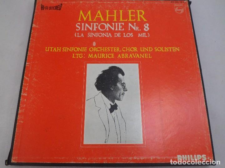 LP MAHLER. SINFONIE N. 8 (LA SINFONÍA DE LOS MIL) PHILIPS. ESTUCHE 2 LP´S (Música - Discos de Vinilo - Maxi Singles - Clásica, Ópera, Zarzuela y Marchas)