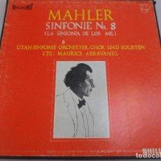 Discos de vinilo: LP MAHLER. SINFONIE N. 8 (LA SINFONÍA DE LOS MIL) PHILIPS. ESTUCHE 2 LP´S. Lote 96673999