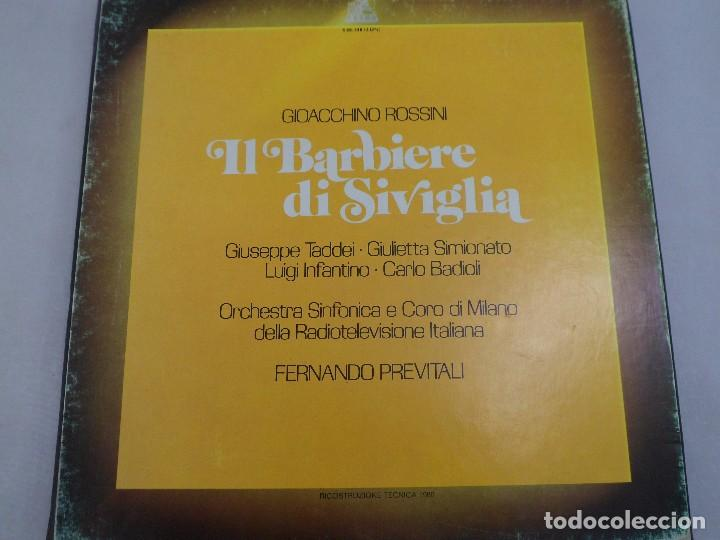 LP ROSSINI. IL BARBIERI DI SIVIGLIA. ESTUCHE 3 LP´S (Música - Discos de Vinilo - Maxi Singles - Clásica, Ópera, Zarzuela y Marchas)