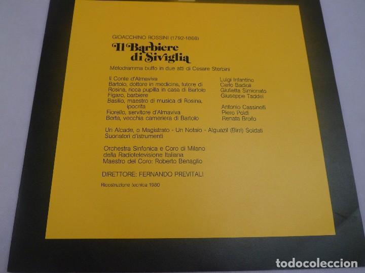 Discos de vinilo: LP ROSSINI. IL BARBIERI DI SIVIGLIA. ESTUCHE 3 LP´S - Foto 2 - 96674155