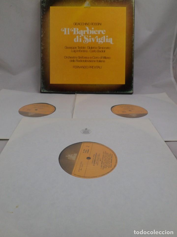 Discos de vinilo: LP ROSSINI. IL BARBIERI DI SIVIGLIA. ESTUCHE 3 LP´S - Foto 3 - 96674155