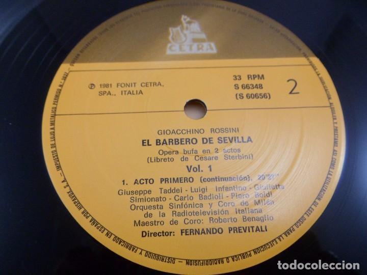 Discos de vinilo: LP ROSSINI. IL BARBIERI DI SIVIGLIA. ESTUCHE 3 LP´S - Foto 5 - 96674155