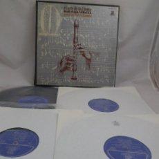 Discos de vinilo: LP EL ARTE DE LA FLAUTA DESDE EL SIGLO XVII AL XX POR JEAN PIERRE RAMPAL.. ESTUCHE 4 LP´S . Lote 96674299