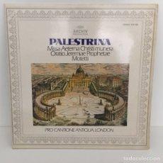 Discos de vinilo: PALESTRINA - MISSA AETERNA CHRISTI. Lote 96674143