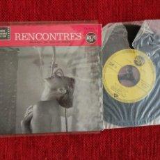 Discos de vinilo: RENCONTRES+ EP ET CA TWISTED+ 3 TEMAS+ FRANCES. Lote 96693139