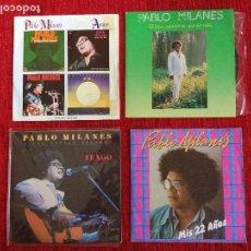 Discos de vinil: PABLO MILANÉS + 4 SINGLES. Lote 96697055