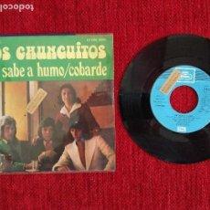 Discos de vinilo: LOS CHUNGUITOS SG. ME SABE A HUMO + COBARDE PROMO. Lote 96698103
