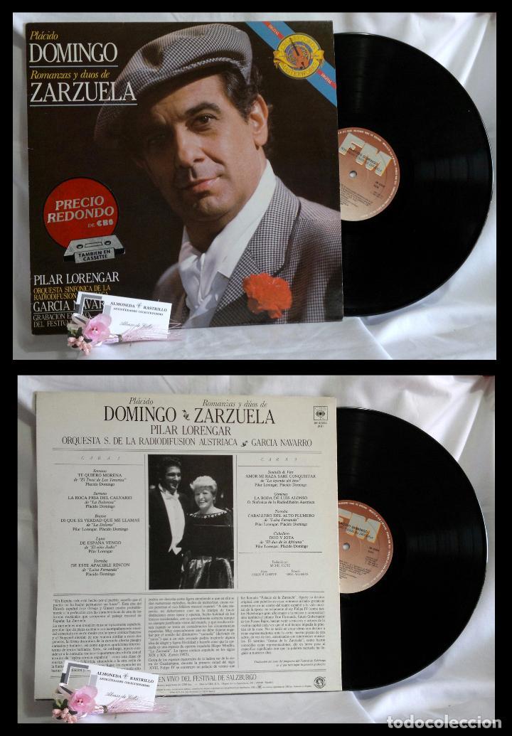 1985.- PLÁCIDO DOMINGO.- ROMANZAS Y DÚOS DE ZARZUELA.- GRABACIÓN EN VIVO DEL FESTIVAL DE SALBURGO. (Música - Discos de Vinilo - EPs - Clásica, Ópera, Zarzuela y Marchas)