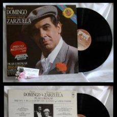 Discos de vinilo: 1985.- PLÁCIDO DOMINGO.- ROMANZAS Y DÚOS DE ZARZUELA.- GRABACIÓN EN VIVO DEL FESTIVAL DE SALBURGO.. Lote 96717103