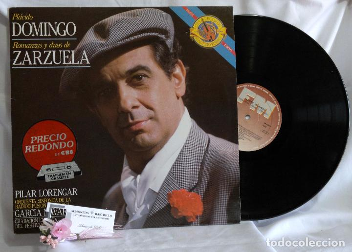 Discos de vinilo: 1985.- Plácido Domingo.- Romanzas Y Dúos De Zarzuela.- Grabación en vivo del festival de Salburgo. - Foto 2 - 96717103