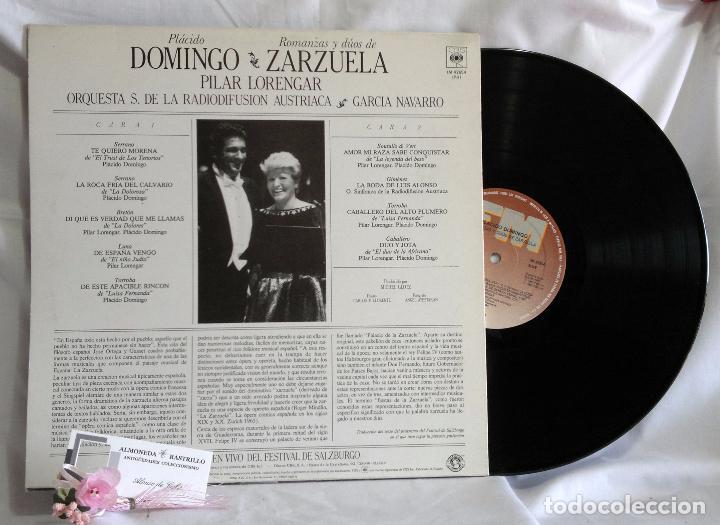 Discos de vinilo: 1985.- Plácido Domingo.- Romanzas Y Dúos De Zarzuela.- Grabación en vivo del festival de Salburgo. - Foto 3 - 96717103
