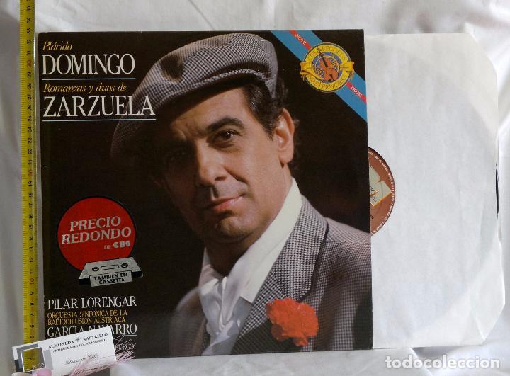 Discos de vinilo: 1985.- Plácido Domingo.- Romanzas Y Dúos De Zarzuela.- Grabación en vivo del festival de Salburgo. - Foto 6 - 96717103