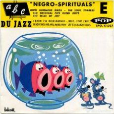 Discos de vinilo: VVAA - NEGRO-SPIRITUALS (ABC DU JAZZ) VOL. E - EP FRANCE - DISQUES POP SPO. 17.027. Lote 96738675