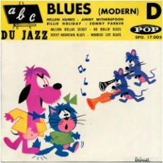 Discos de vinilo: VVAA - BLUES (ABC DU JAZZ) VOL. D - EP FRANCE - DISQUES POP SPO. 17.005. Lote 96739195