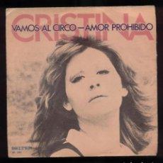 Discos de vinilo: CRISTINA 45RPM ESP 1973 EX/EX. Lote 96742823