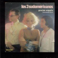 Discos de vinilo: LOS 3 SUDAMERICANOS VG. Lote 96743719