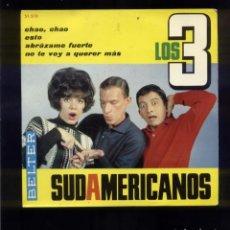 Discos de vinilo: LOS 3 SUDAMERICANOS VG+. Lote 96743987