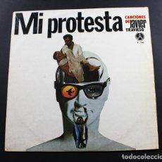 Discos de vinilo: LP MI PROTESTA, CANCIONES DE JAVIER TRAVIESO, PAX Y-746. Lote 96745391