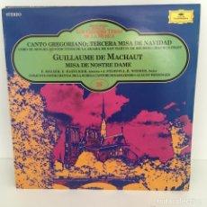 Discos de vinilo: CANTO GREGORIANO - TERCERA MISA DE NAVIDAD. Lote 96674496