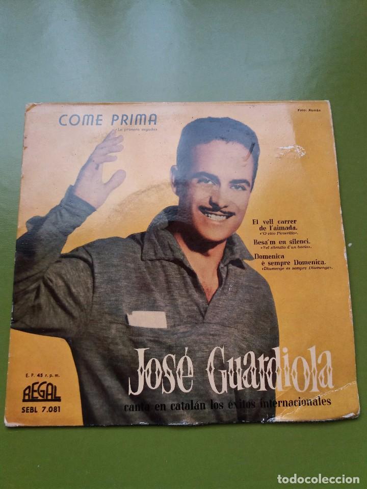 EP ** JOSE GUARDIOLA ** COME PRIMA ** COVER / VERY GOOD +(VG+) ** EP / VERY GOOD + (VG+)** 1958 (Música - Discos de Vinilo - Maxi Singles - Solistas Españoles de los 50 y 60)