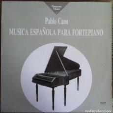 Discos de vinilo: PABLO CANO - MÚSICA ESPAÑOLA PARA FORTEPIANO - LP PENTAGRAMA MÁGICO/TECNOSAGA 1989. Lote 96807103