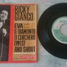 Discos de vinilo: RICKY GIANCO: EVA + 3 (VERGARA RICORDI 1963). Lote 96809763