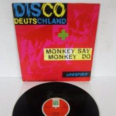 Discos de vinilo: WESTBAM - MONKEY SAY MONKEY DO / DISCO DEUTSCHLAND - MAXI 4 TEMAS - BASIC MIX 1989 SPAIN - BASIX-005. Lote 96865579