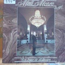 Discos de vinilo: LP - MATT MONRO - UN TOQUE DE DISTINCION (SPAIN, RCA RECORDS 1982, PORTADA DOBLE). Lote 96867975