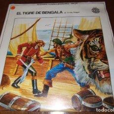 Discos de vinilo: GRANDES RELATOS JUVENILES - EL TIGRE DE BENGALA -VOL 11. Lote 96929399