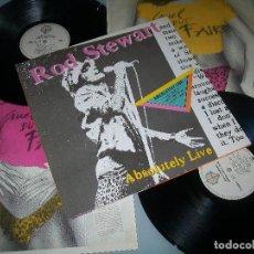 Discos de vinilo: ROD STEWART - ABSOLUTELY LIVE. . 2 LP´S 1982 - PORTADA ABIERTA - COMPLETO - GERMANY - COMO NUEVO. Lote 96930731