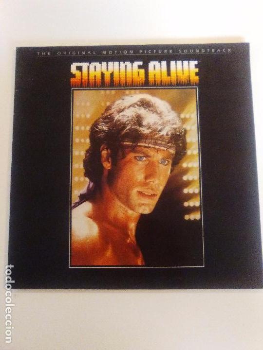 STAYING ALIVE ( 1983 RSO ESPAÑA ) BEE GEES SYLVESTER FRANK STALLONE JOHN TRAVOLTA CYNTHIA (Música - Discos - LP Vinilo - Bandas Sonoras y Música de Actores )