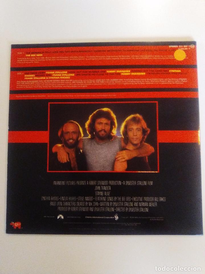 Discos de vinilo: STAYING ALIVE ( 1983 RSO ESPAÑA ) BEE GEES SYLVESTER FRANK STALLONE JOHN TRAVOLTA CYNTHIA - Foto 2 - 96943179