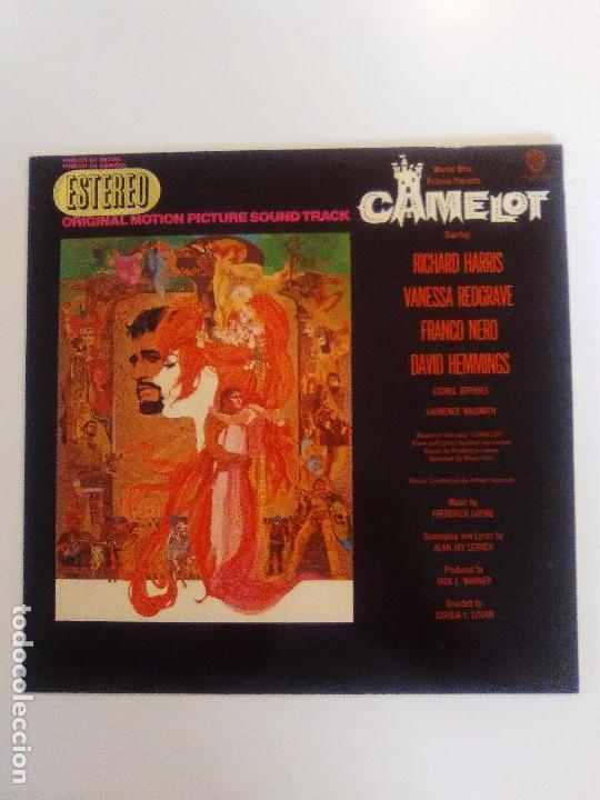 CAMELOT ( 1967 WARNER HISPAVOX ESPAÑA ) JOSHUA LOGAN FREDERICK LOEWE RICHARD HARRIS VANESSA REDGRAVE (Música - Discos - LP Vinilo - Bandas Sonoras y Música de Actores )