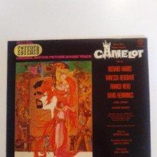 Discos de vinilo: CAMELOT ( 1967 WARNER HISPAVOX ESPAÑA ) JOSHUA LOGAN FREDERICK LOEWE RICHARD HARRIS VANESSA REDGRAVE. Lote 96943267
