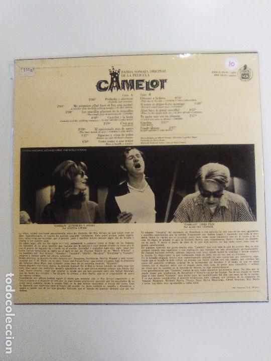 Discos de vinilo: CAMELOT ( 1967 WARNER HISPAVOX ESPAÑA ) JOSHUA LOGAN FREDERICK LOEWE RICHARD HARRIS VANESSA REDGRAVE - Foto 2 - 96943267