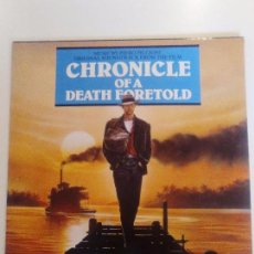 Discos de vinilo: CHRONICLE OF A DEATH FORETOLD CRONICA DE UNA MUERTE ANUNCIADA ( 1987 VIRGIN UK) PIERO PICCIONI. Lote 96943595