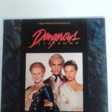Discos de vinilo: DANGEROUS LIAISONS LAS AMISTADES PELIGROSAS ( 1989 VIRGIN ESPAÑA ) GEORGE FENTON STEPHEN FREARS . Lote 96961063
