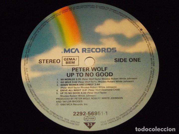 Discos de vinilo: Peter Wolf – Up To No Good!, Europe 1990 MCA Records - Foto 6 - 96982019