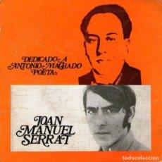 Discos de vinilo: JOAN MANUEL SERRAT - EP SINGLE VINILO 7'' - EDITADO EN PORTUGAL - CANTARES + 3 - RODA. Lote 96987075