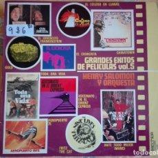 Discos de vinilo: LP - HENRY SALOMON Y SU ORQUESTA - GRANDES EXITOS DE PELICULAS VOL. V (SPAIN, BELTER 1975). Lote 96987139