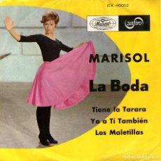 Discos de vinilo: MARISOL - EP VINILO 7'' - LA BODA + 3 - EDITADO EN MÉXICO - MUSART 1968. Lote 96987323