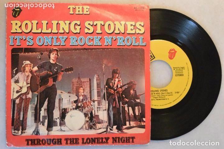 SINGLE THE ROLLING STONES IT´S ONLY ROCK N´ROLL  1974