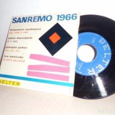 Discos de vinilo: SAN REMO 1966-EP DE 4 CANCIONES BELTER-SPAIN . Lote 96988399