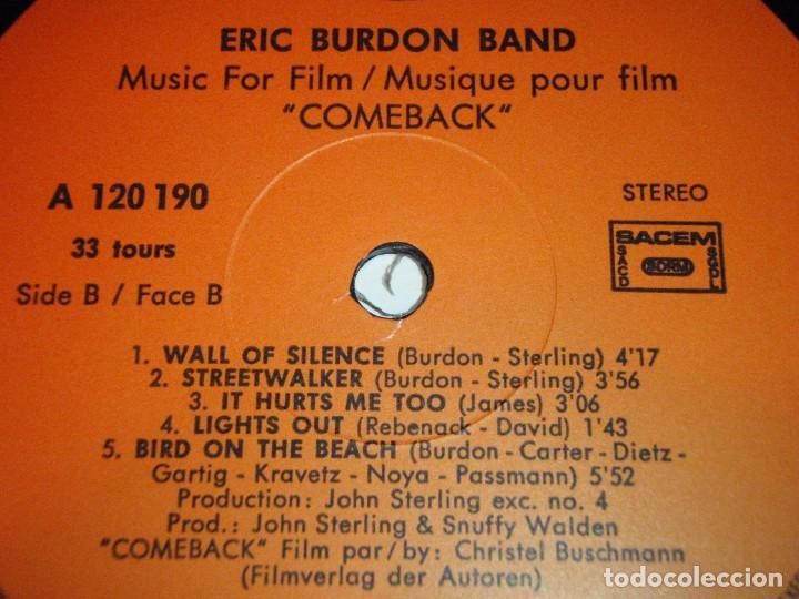 Discos de vinilo: ERIC BURDON BAND ( MUSIC FILM COMEBACK ) 1982-FRANCE LP33 SQUIRE RECORDS - Foto 4 - 96988415