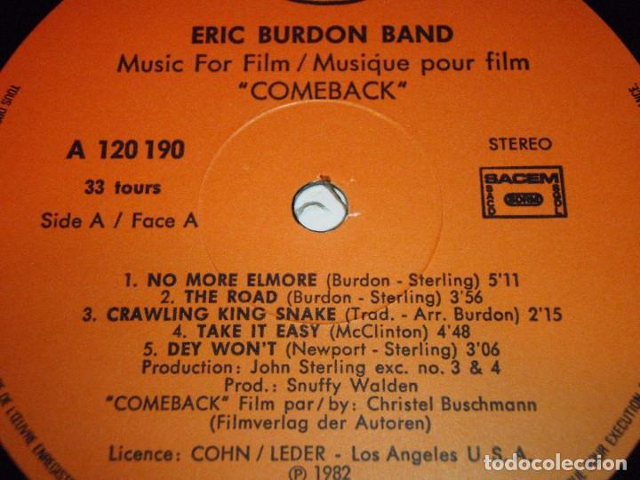 Discos de vinilo: ERIC BURDON BAND ( MUSIC FILM COMEBACK ) 1982-FRANCE LP33 SQUIRE RECORDS - Foto 5 - 96988415