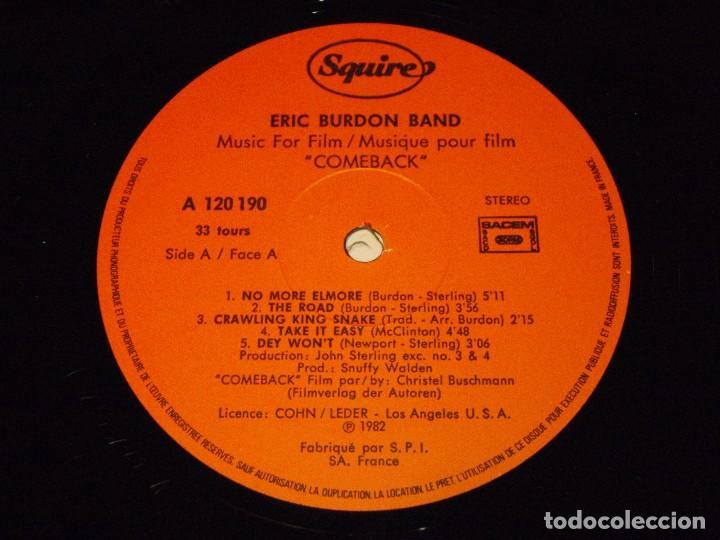 Discos de vinilo: ERIC BURDON BAND ( MUSIC FILM COMEBACK ) 1982-FRANCE LP33 SQUIRE RECORDS - Foto 6 - 96988415
