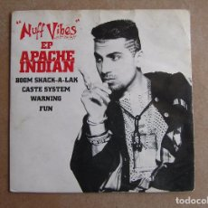 Discos de vinilo: APACHE INDIAN – NUFF VIBES EP - ISLAND RECORDS 1993 - SINGLE - P -. Lote 96991547