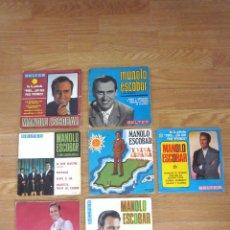 Discos de vinilo: LOTE 7 VINILOS DE MANOLO ESCOBAR. Lote 96991559