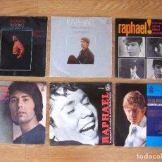 Discos de vinilo: LOTE 6 VINILOS RAPHAEL. Lote 96992231